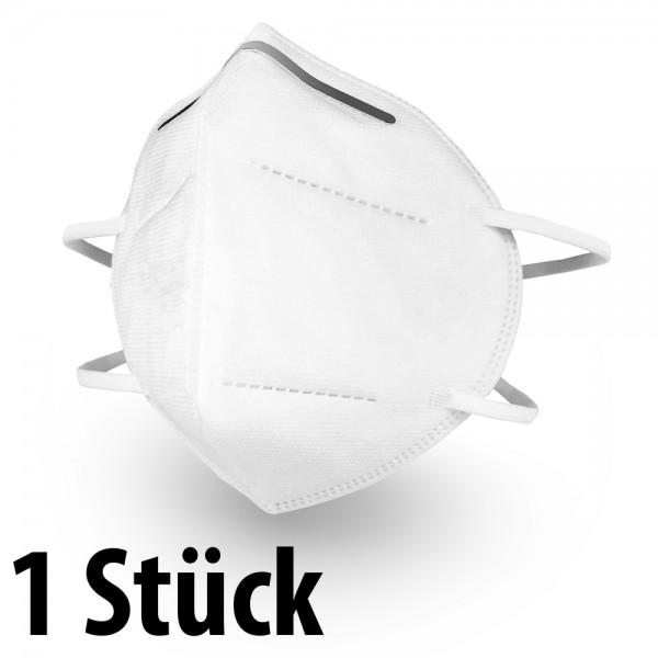 Mundschutz 1 Stück KN95 Maske - mit anpassbaren Nasenbügel (einzeln verpackt)