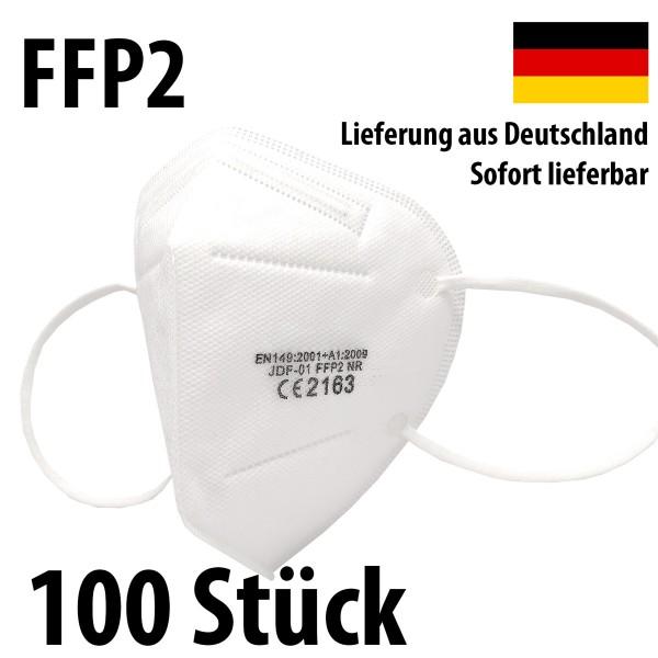 100 Stück FFP2 Atemschutz Masken 5-lagig mit CE-Zulassung