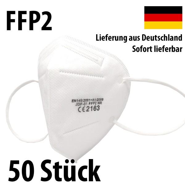 50 Stück FFP2 Atemschutz Masken 5-lagig mit CE-Zulassung