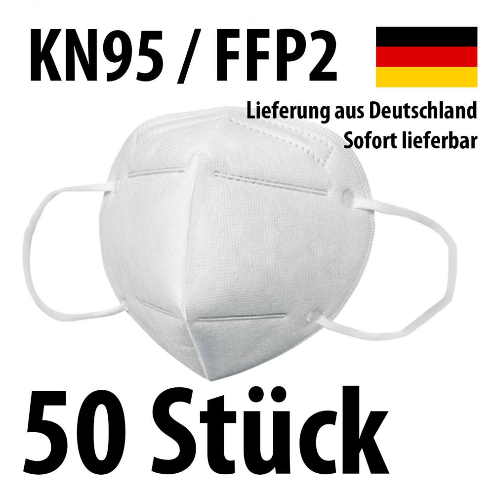 Atemschutzmaske Mundschutz KN95 / FFP2 - 50 Stück kaufen ...